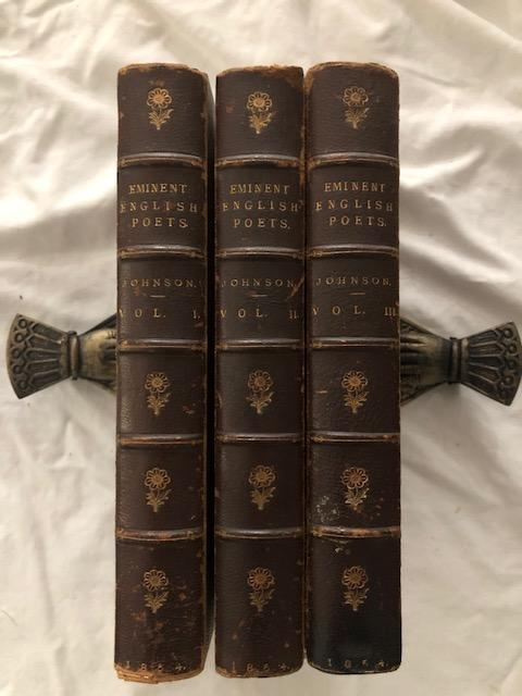 Lives Of The Most Eminent English Poets Three Volumes. Samuel Johnson.