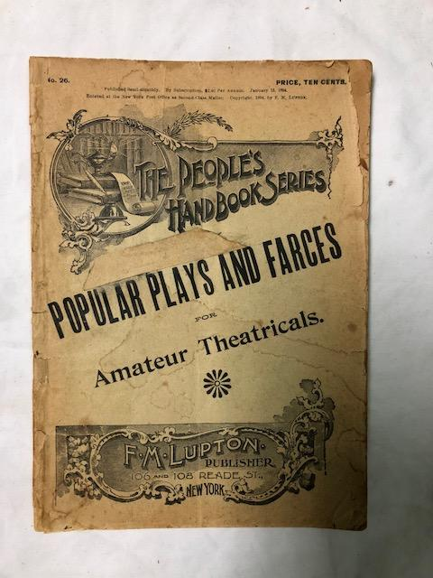Popular Plays And Farces; People's Handbook Series No. 26