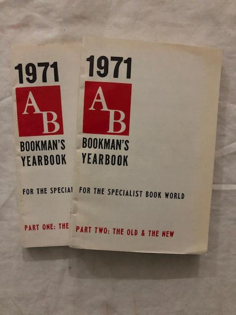 1971 AB Bookman's Yearbook Parts One and Two