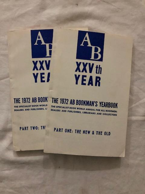 1972 AB Bookman's Yearbook Parts One and Two