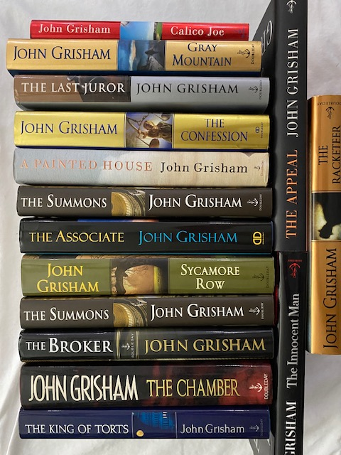 Inscribed First Edition John Grisham Novels. (Set of 15). John Grisham.