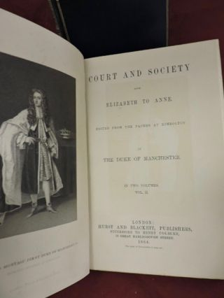 Court and Society; From Elizabeth To Anne