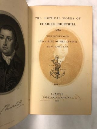 The Poetical Works Of Charles Churchill; With Copious Noes And A Life Of The Author By W. Tooke F.R.S.