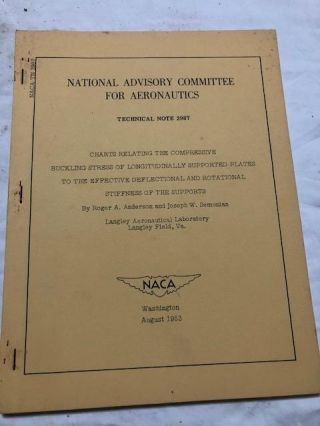 National Advisory Committee for Aeronautics; Technical Note No. 2987; Compressive Buckling Stress