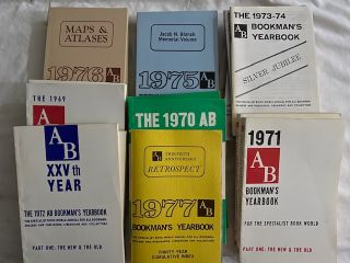 1977 AB Bookman's Yearbook ( Includes AB Bookman's yearbooks 1969-1976 (15 volumes).; Thirty-Year Cumulative Index