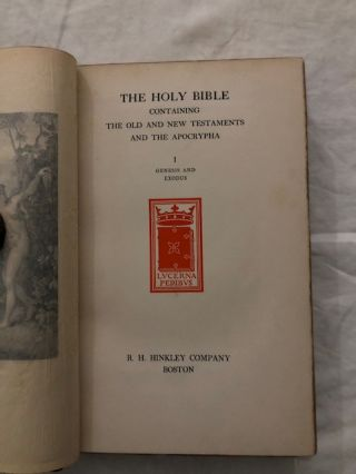 THE HOLY BIBLE Containing the Old and New Testaments and the Apocrypha, 14 Volumes