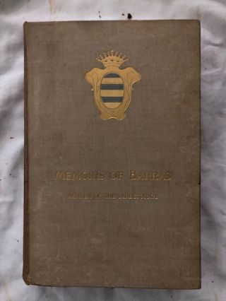 Memoirs of Barras Member of the Directorate (4 volumes)