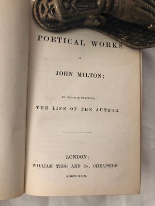 The Poetical Works Of John Milton; To Which Is Prefixed The Life Of The Author