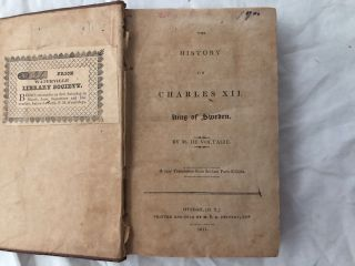 The History Of Charles XII