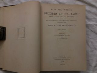 Rowland Ward's Records of Big Game; African and Asiatic Sections