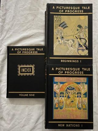 A Picturesque Tale Of Progress Nine Volumes (including index). Olive Beaupre Miller