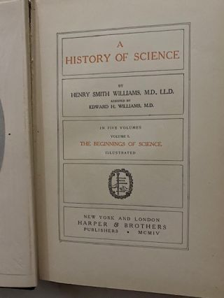 A History Of Science (Five Volumes)