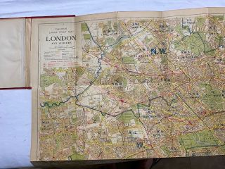 Bacon's New Large Print Map of London and Suburbs; Extending from Highgate to Crystal Palace, Twickenham to Greenwich