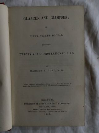 Glances and Glimpses;; or Fifty Years Social, including Twenty Years of Professional Life