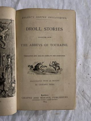 Droll Stories; collected from The Abbeys Of Touraine