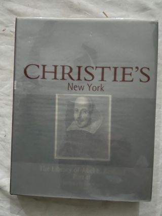 The Library of Abel E. Berland Part I and II; Monday/Tuesday 8/9 2001. Christie's