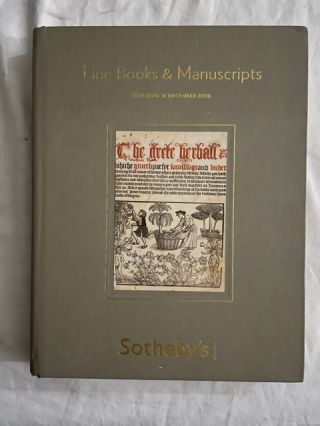 Fine Books and Manuscripts; Thursday 11 December 2008. Sotheby's