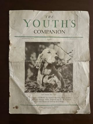 Youth's Companion; March 18 , 1926