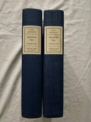 Remembrance Rock (two volumes). Carl Sandburg