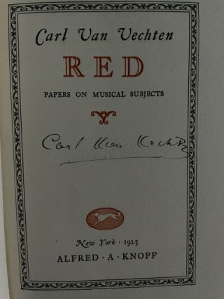 Red. Papers on Musical Subjects