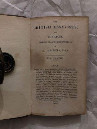 The British Essayists complete 38 volumes (with index)