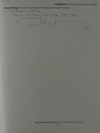 Fred Wilson: Objects and Installations 1979-2000 (signed)