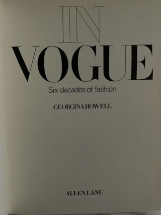 In Vogue; Six decades of fashion