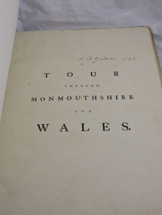 A Tour Through Monmouthshire and Wales (ex lib Douglas Fairbanks)