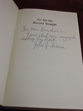 To Set The Record Straight (signed by author)