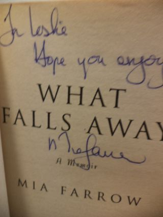 What Falls Away. Mia Farrow