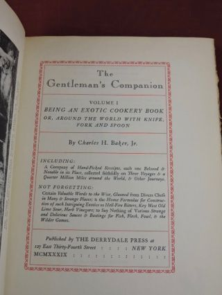 The Gentleman's Companion vol. 1; Exotic Cookery