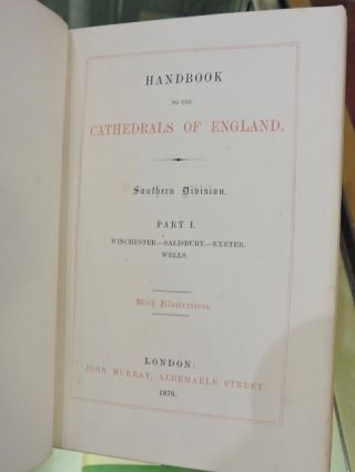 Handbook to the Cathedrals of England 8 Vols.