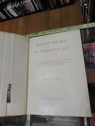 Recent Ideals Of American Art